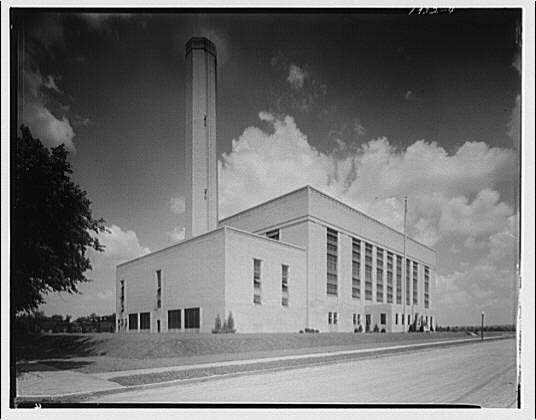 Potomac Electric Power Co. Buzzard Point plant. Buzzard Point plant exterior completed I