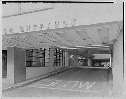 Statler Hotel. Covered driveway to entrance of Statler Hotel I