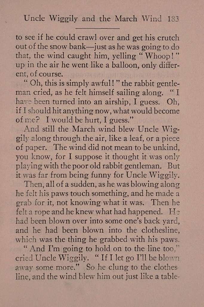 Uncle Wiggily's rheumatism,