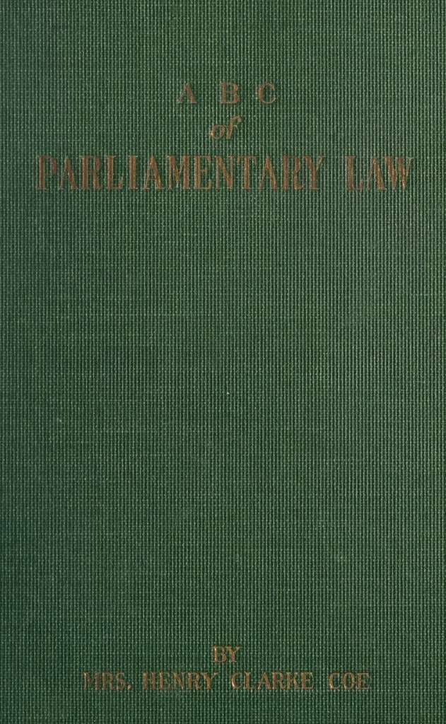 A B C of parliamentary law