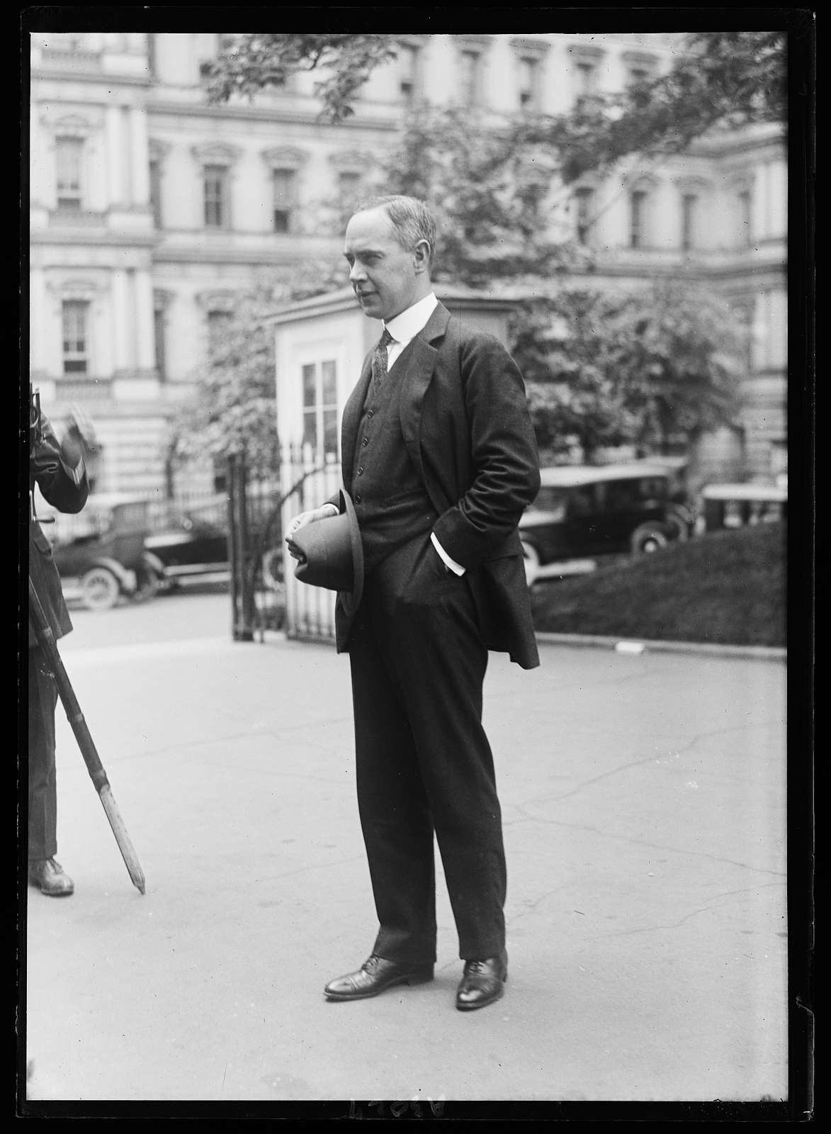 Man at White House, Washington, D.C.