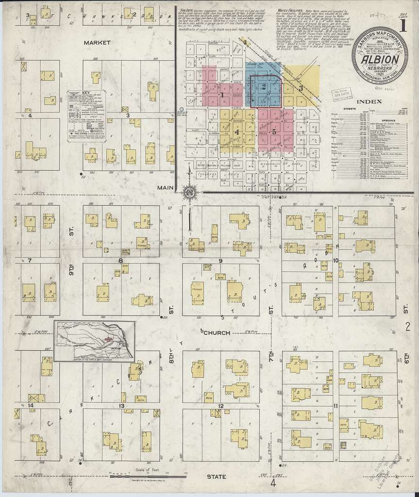 Sanborn Fire Insurance Map from Albion, Boone County, Nebraska