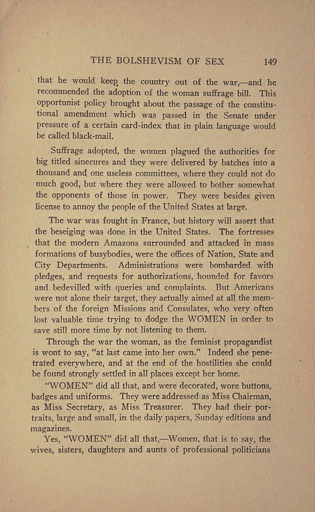 The bolshevism of sex; femininity and feminism,