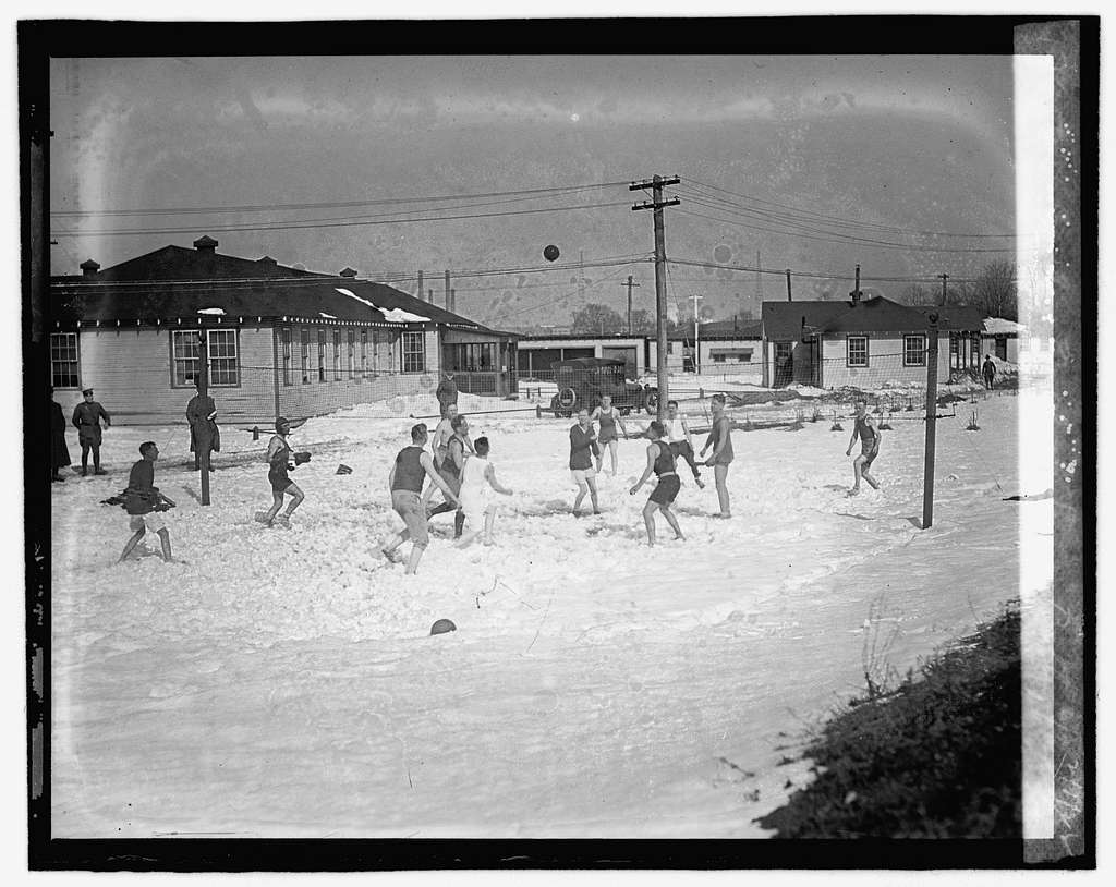 Volleyball in snow, Bolby Field, 2122