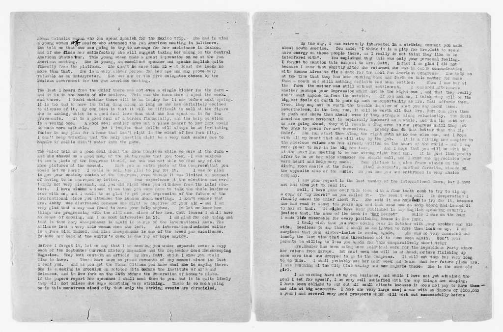 Carrie Chapman Catt Papers: General Correspondence, circa 1890-1947; Hyde, Clara; 1923