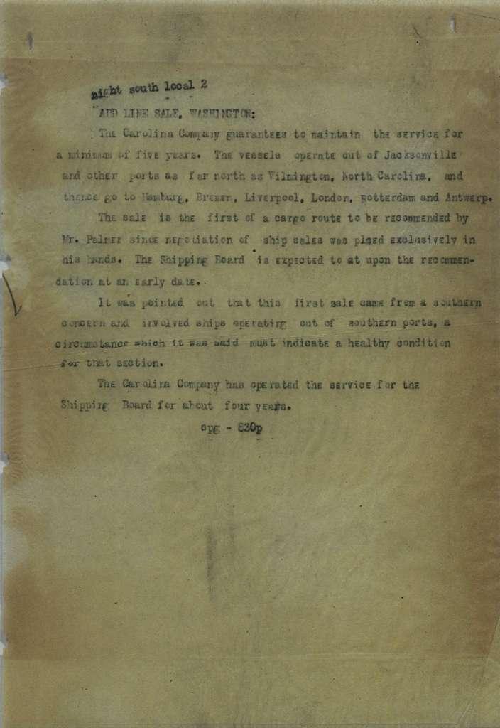 Associated Press, Washington, D.C., Bureau News Dispatches: 1925, July