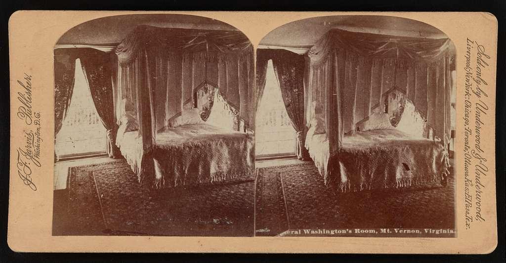 General Washington's room, Mt. Vernon, Virgnia