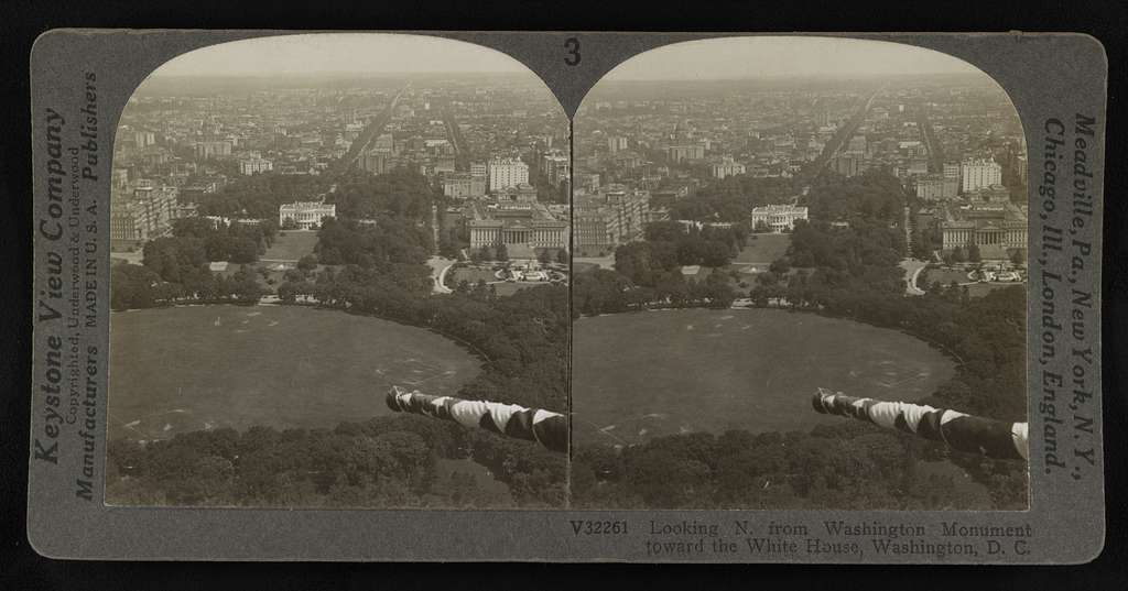 Looking N. from Washington Monument toward the White House, Washington, D. C
