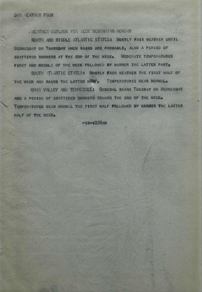 Associated Press, Washington, D.C., Bureau News Dispatches: 1929, Oct. 11-20