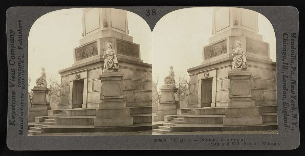 """""""History"""" - Douglas monument, 35th and Ellis Streets, Chicago"""