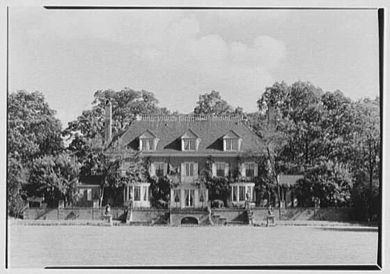 Norman de R. Whitehouse, residence in Brookville, Long Island. West facade II