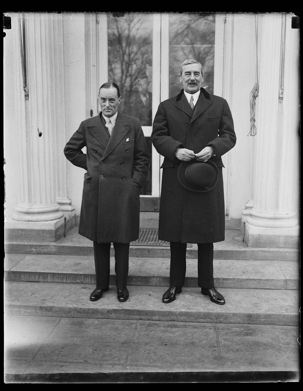 Men at White House, Washington, D.C.