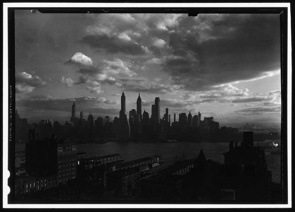 New York city views. Financial district, from Hotel Bossert