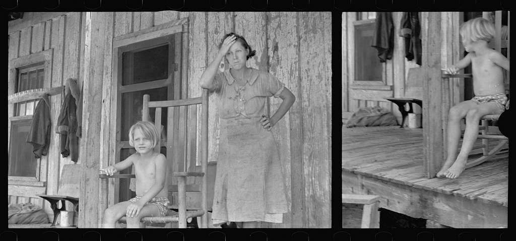 Untitled photo, possibly related to: Wife of a sharecropper, Stortz cotton plantation, Pulaski County, Arkansas