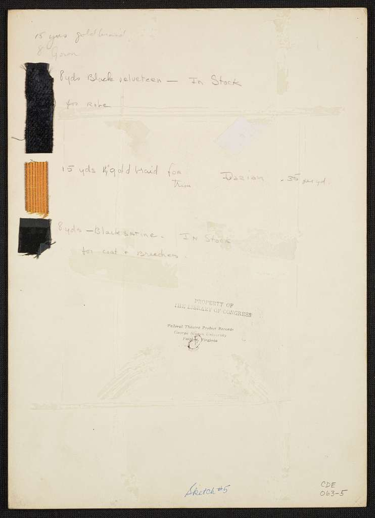 Iolanthe: Lord Chancellor gold-embroidered black silk robe. Black suit with white cravat and white stockings