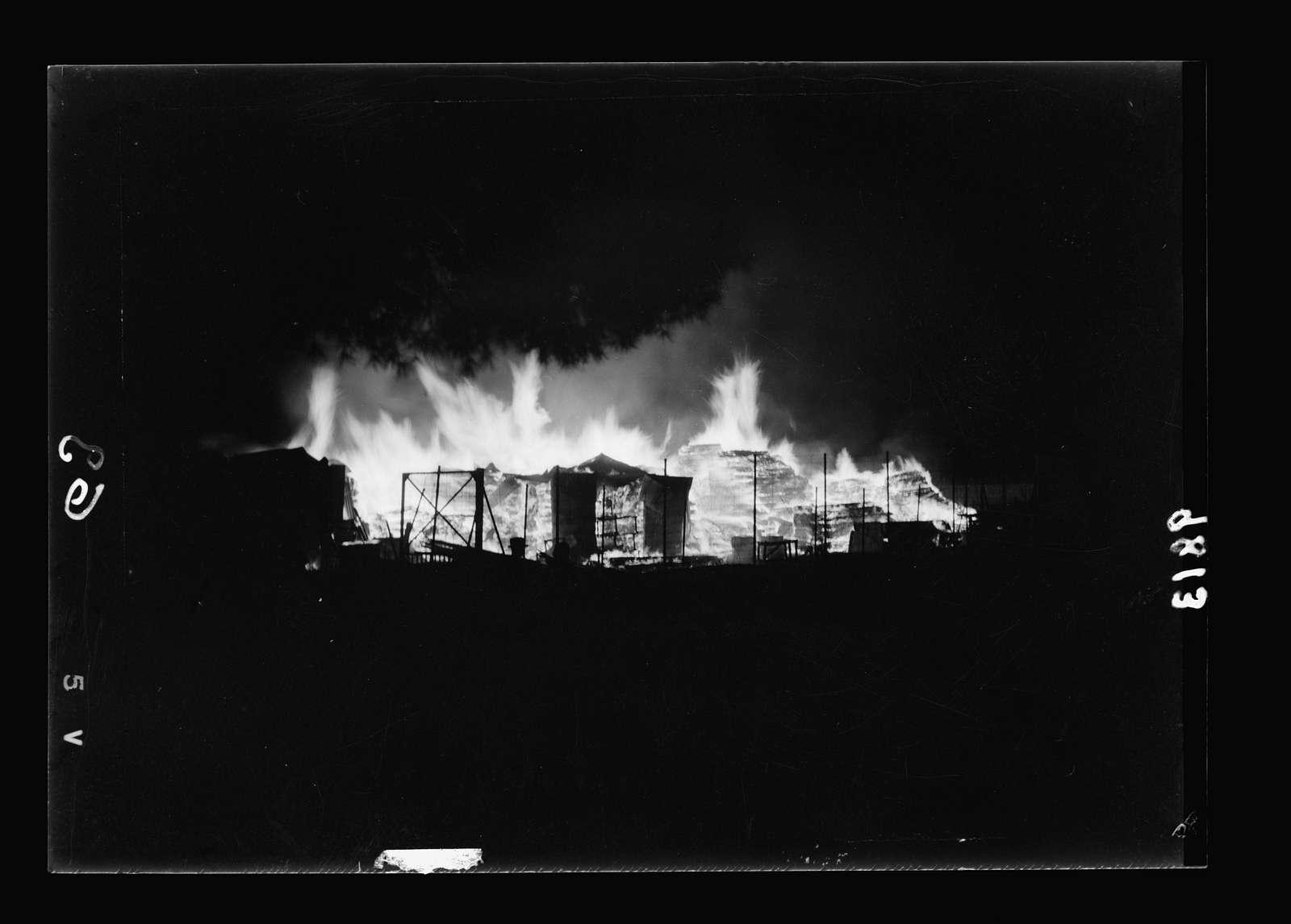 Night incindiary i.e., incendiary of coal and lumber yards near railroad station
