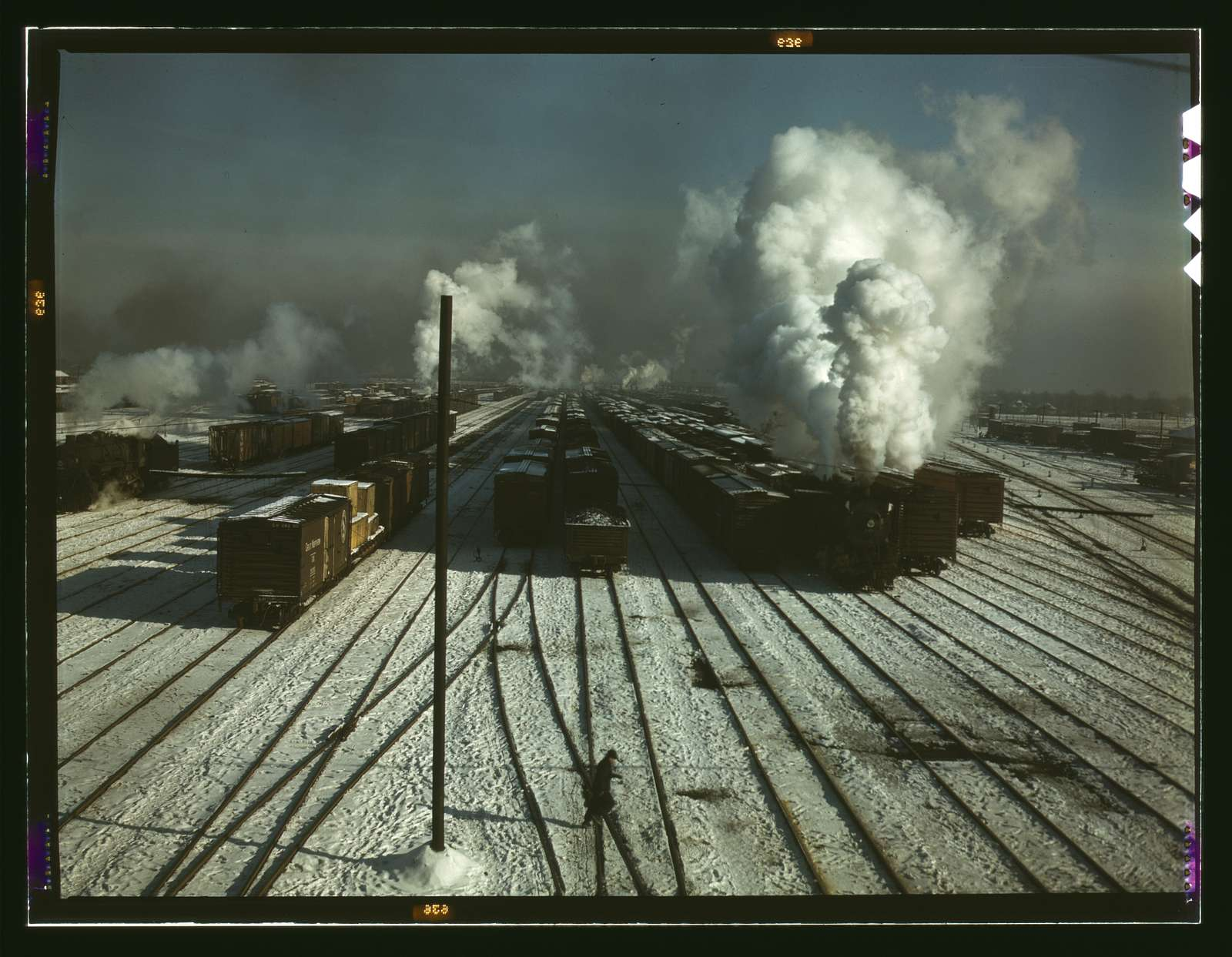 C & NW RR i.e. Chicago and North Western railroad, a general view of a classification yard at Proviso Yard, Chicago, Ill