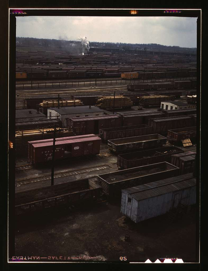 Freight cars in the Chicago and Northwestern i.e. North Western Railroad classification yard(?), Chicago, Ill. General view of Proviso yard