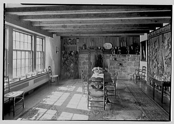 Mrs. Rodgers Denckla, residence in Edgemont, Pennsylvania. Dining room, general