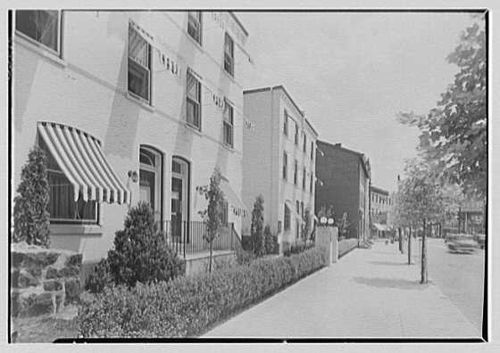 North Fortieth Street housing group, Philadelphia, Pennsylvania. General front view, sharp