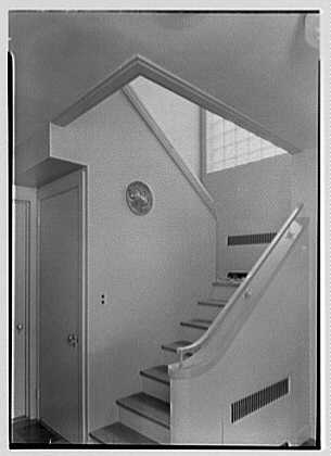 Robert Tietze, residence in Riverside, Connecticut. Staircase