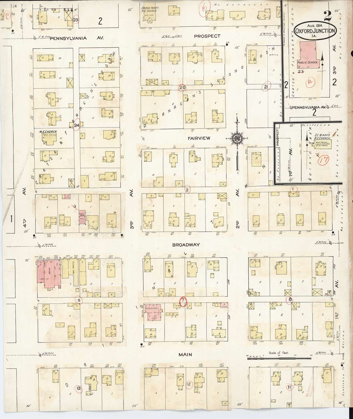 Sanborn Fire Insurance Map from Oxford Junction, James County, Iowa