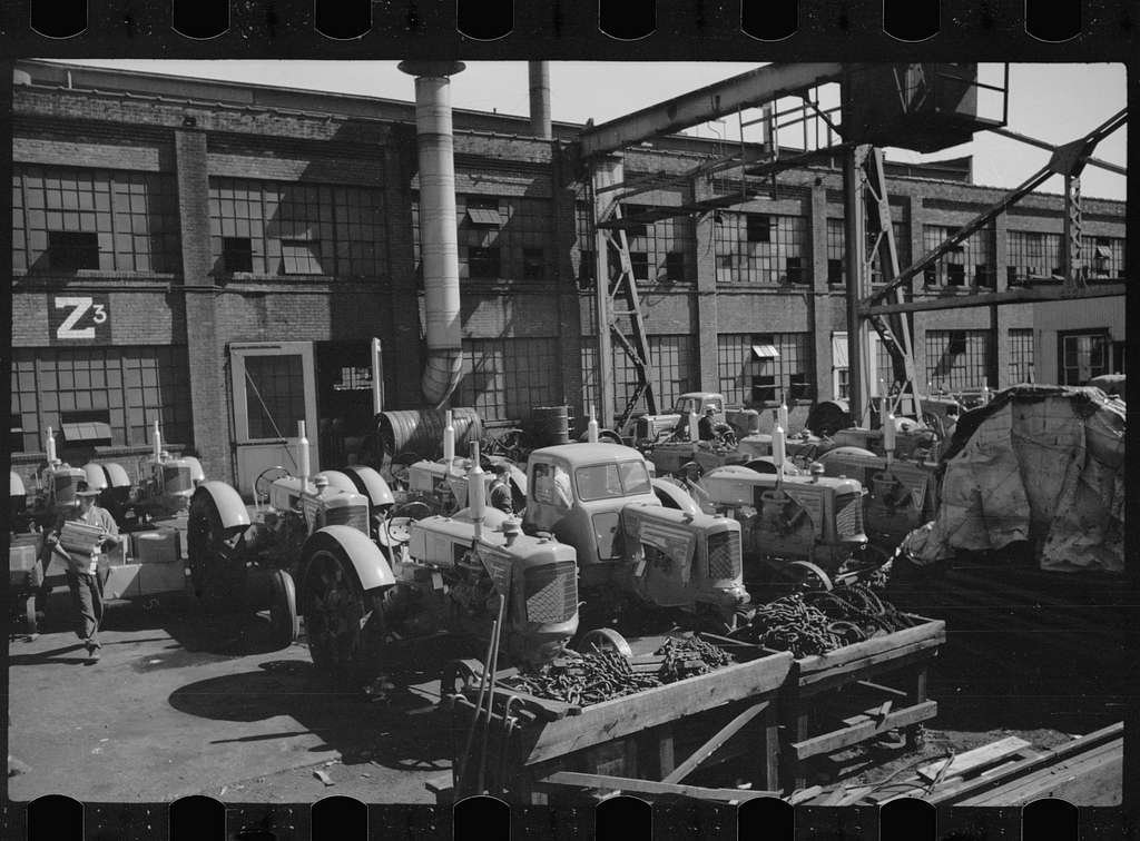 Untitled photo, possibly related to: Moline tractor factory, Minneapolis, Minnesota