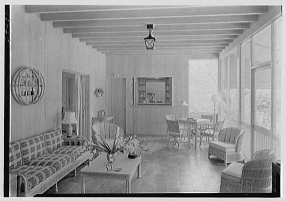 Bennett Chapple, residence at 324 Barton Ave., Palm Beach, Florida. Loggia