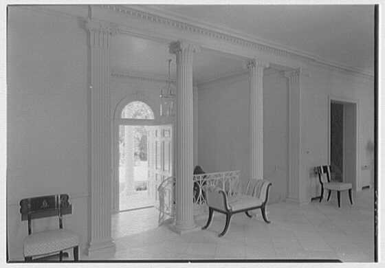 Ellsworth C. Warner, residence at Pelican Rd. and El Vedado, Palm Beach, Florida. Gallery, to foyer