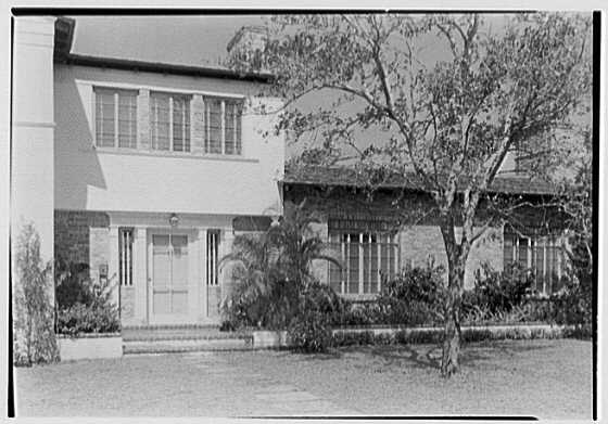 H.T. Morgan, residence at 31 LaGorce Cir., Miami Beach, Florida. Entrance detail, horizontal B