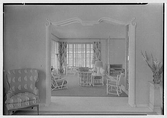 Julio C. Sanchez, residence at Sunset Island, no. 2, Miami Beach, Florida. Playroom from living room