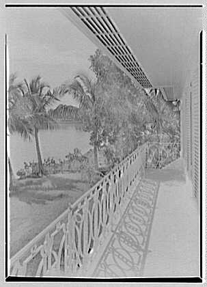 Julio C. Sanchez, residence at Sunset Island, no. 2, Miami Beach, Florida. View from upper balcony