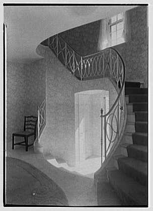Nelson R. Boice, residence at Sunset Island, no. 1, Miami Beach, Florida. Staircase