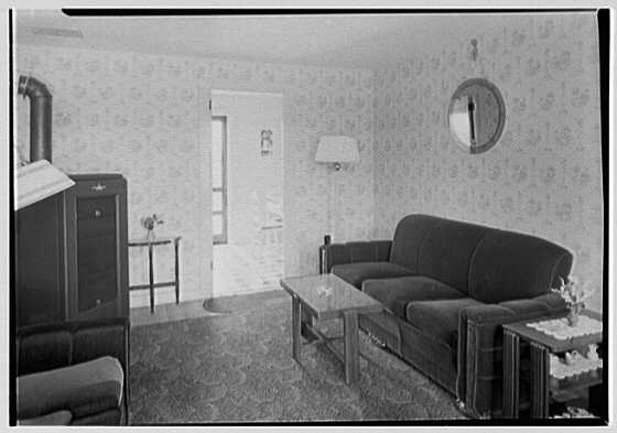 New Brunswick Housing Authority. Reed Court, apartment J, living room II