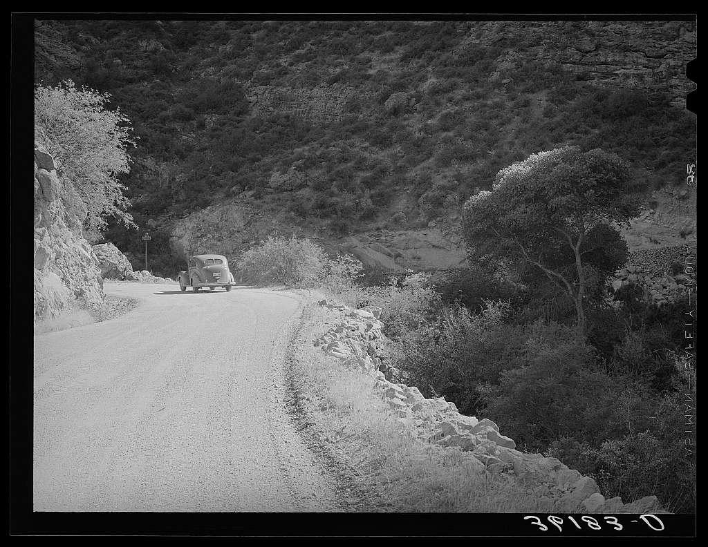 Scene along the Apache Trail between Globe and Phoenix. Apache County, Arizona