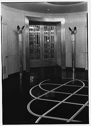 S.S. America, United States Lines. Smoking room, entrance