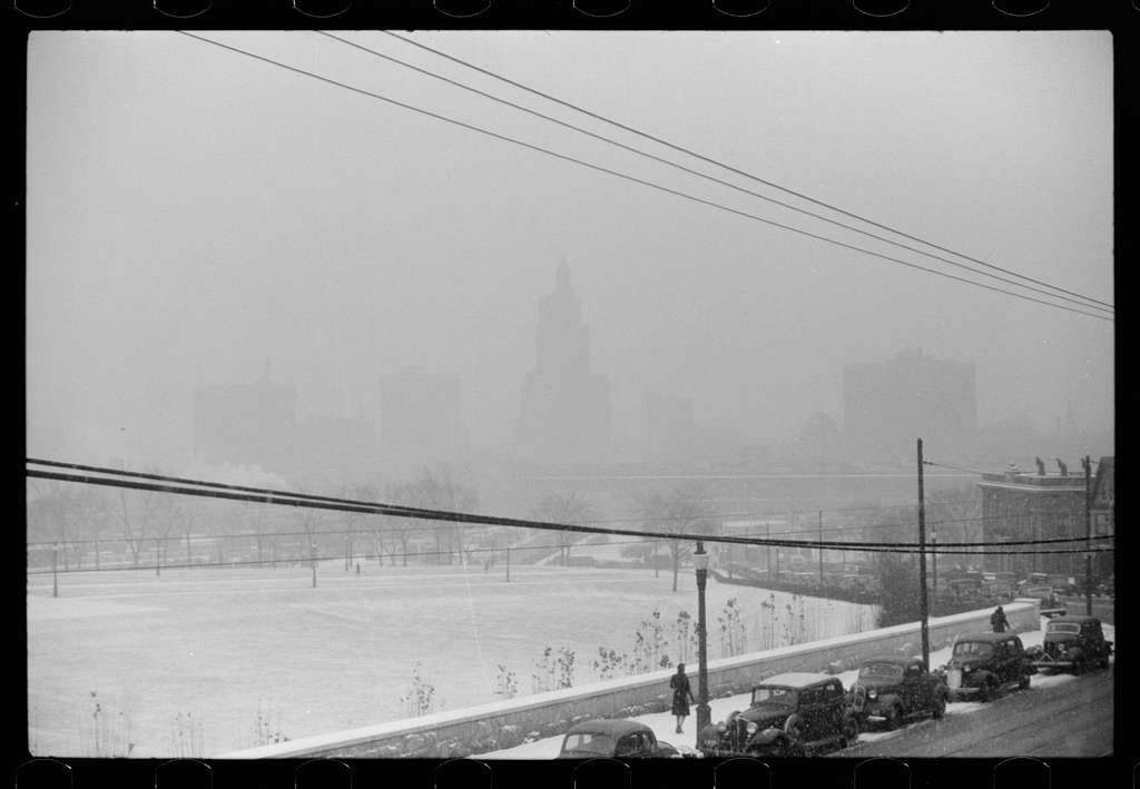 Untitled photo, possibly related to: Snow in downtown Providence, Rhode Island