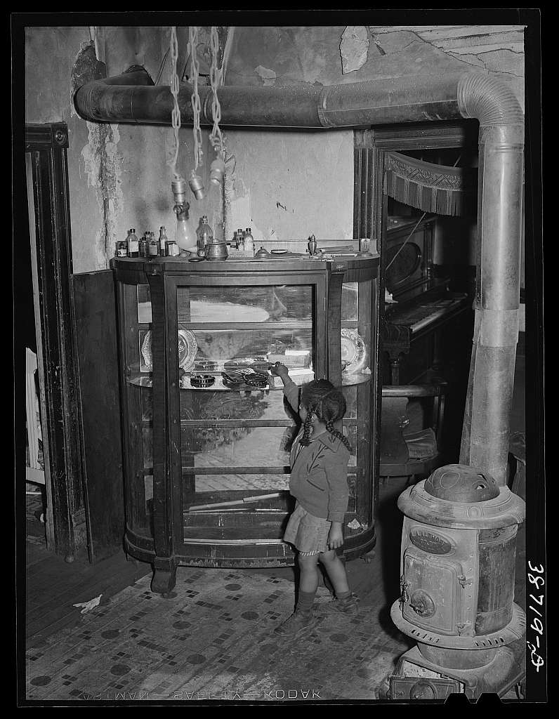 Dining room of Negro family which is on relief. Chicago, Illinois