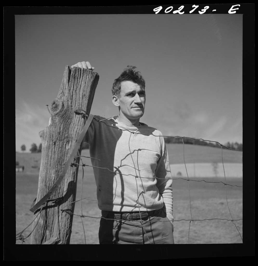 Floyd W. Fleming, defense worker from Spencer, North Carolina, who lives in new rural home built by FSA (Farm Security Administration) on T.H. Walter's farm near Radford, Virginia