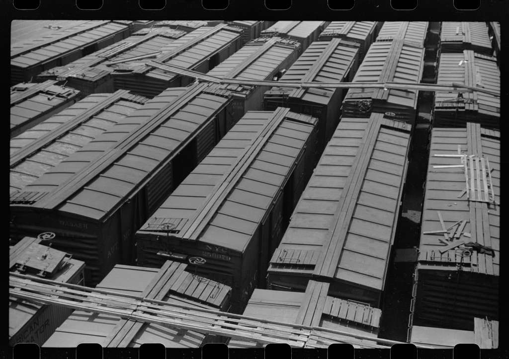 Freight cars in yards, Chicago, Illinois