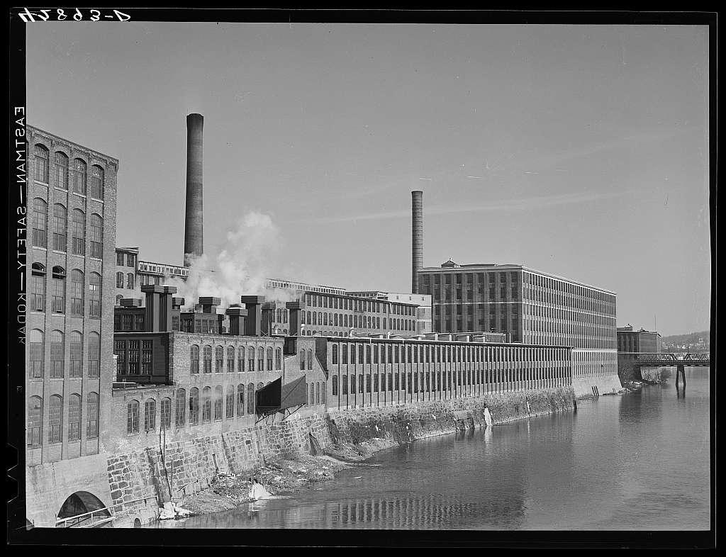 Giant textile mills in Lawrence, Massachusetts
