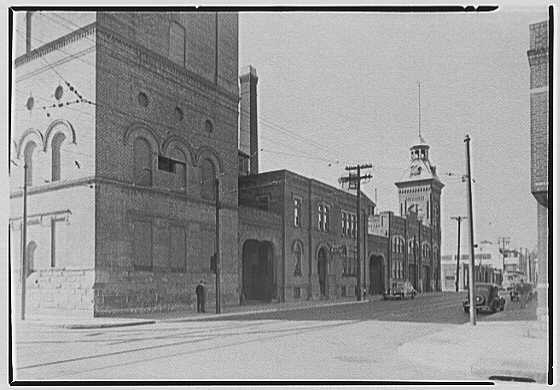 Greater New York Brewery Inc., 501 First Ave., New York City, Cypress Ave., brewery & vicinity. No. 1, brewery, south side Cypress Ave