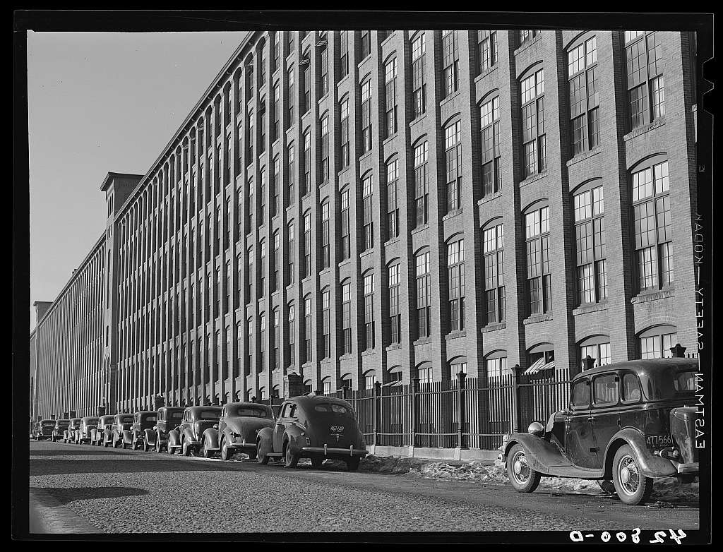Large textile mill in Lawrence, Massachusetts