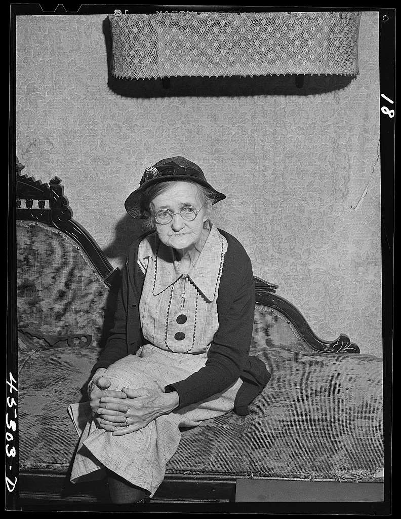 Mrs. Estelle Wilson who owned a one-acre place in Leraysville, New York. She is moving out of the Pine Camp expansion area to live with her daughter in Sandy Creek, Oswego County, New York