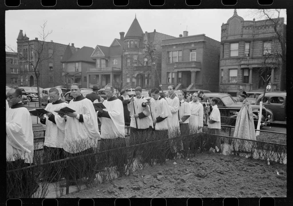 Part of the processional of an Episcopal Church, South Side of Chicago, Illinois
