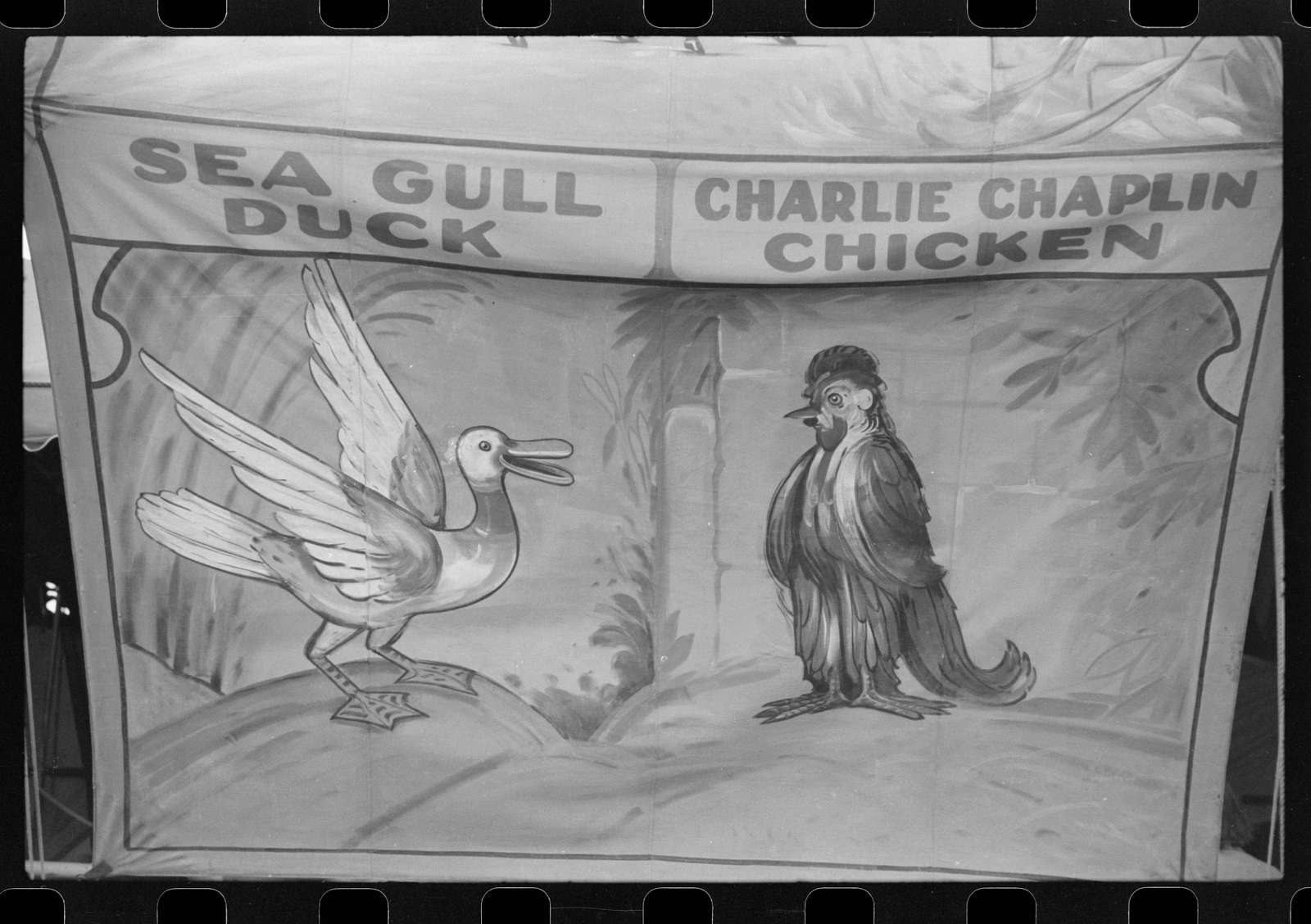 Poster advertising sideshow at the Rutland Fair, Rutland, Vermont