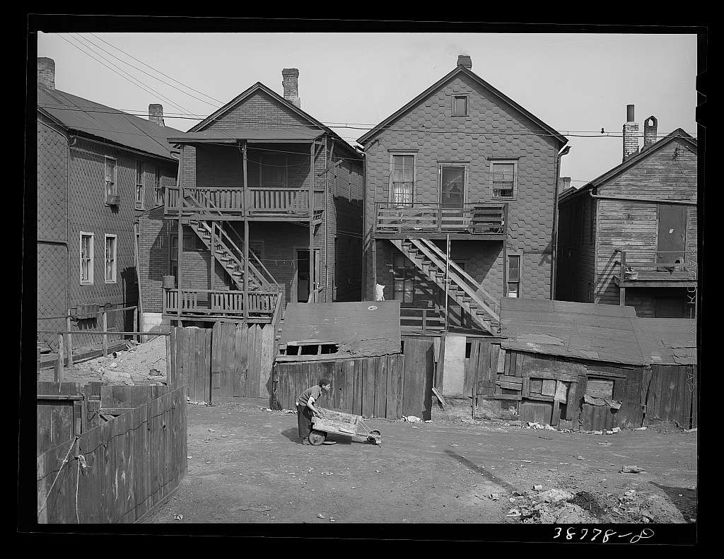 Rear of apartments rented to Negroes. Chicago, Illinois