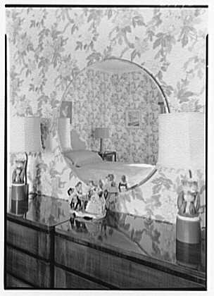 Sam H. Harris, residence at Arabian Ave. and Lakeway, Palm Beach, Florida. Guest room mirror