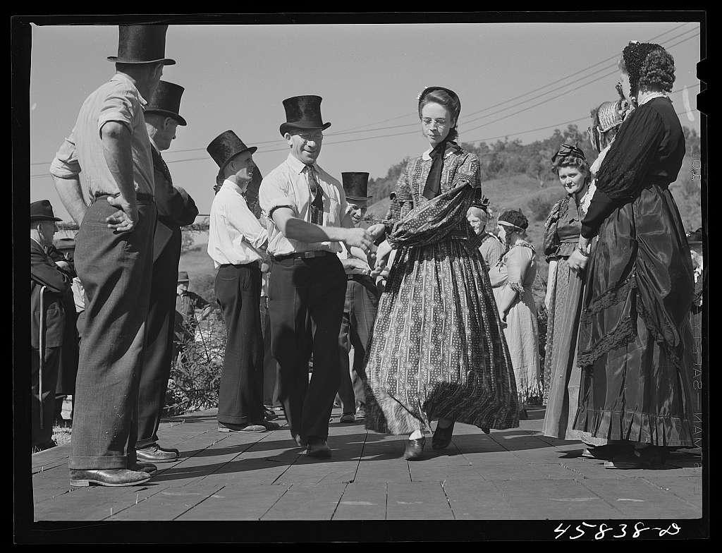 Square dances at the World's Fair at Tunbridge, Vermont