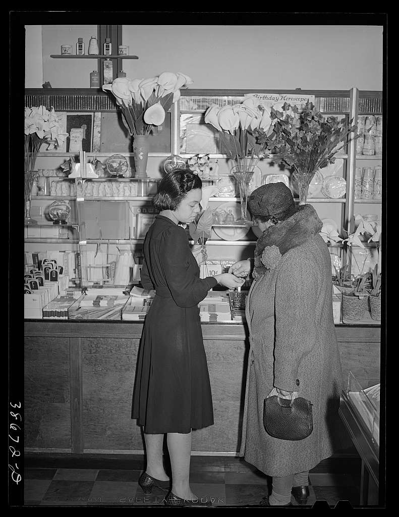 Ten-cent store on 47th Street. Customers are mostly Negroes. Chicago, Illinois